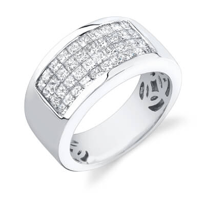 2.50 Ct. Mens Diamond Ring Wedding Band