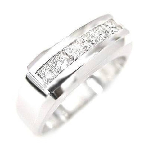 1.00 Ct. Men's Diamond Ring Channel Set 8mm Wide