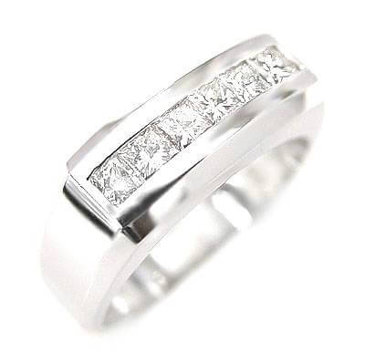 2.10 Ct. Men's Diamond Ring Channel Set 10mm Wide