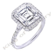 2.08 Ct. Asscher Cut Diamond Engagement Ring (GIA Certified)