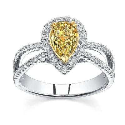 1.61 Ct Fancy Brownish Yellow Diamond Engagement Ring (GIA Certified)
