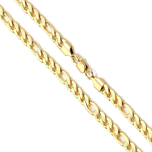 14K Yellow Gold Figaro Chain 6mm