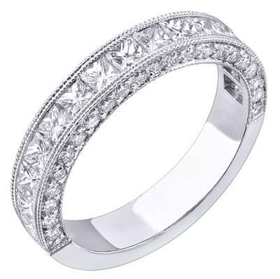 1.36 Ct. Designer Diamond Wedding Band