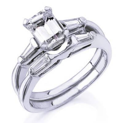 1.57 Ct. Emerald Cut Diamond Bridal Set (GIA Certified)