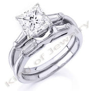 1.32 Ct. Princess Cut Diamond Bridal Set