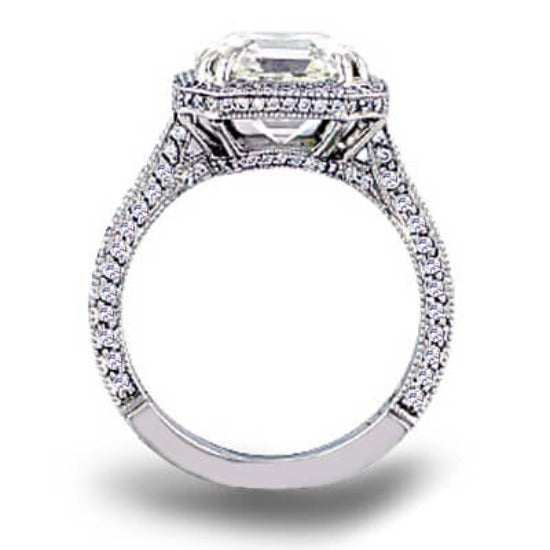 1.96 Ct. Asscher Cut Diamond Engagement Ring F, VS2 (GIA Certified)