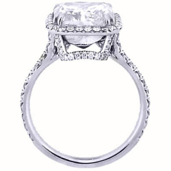 2.94 Ct. U-Setting Asscher Cut Halo Diamond Engagement Ring G,VS1 GIA