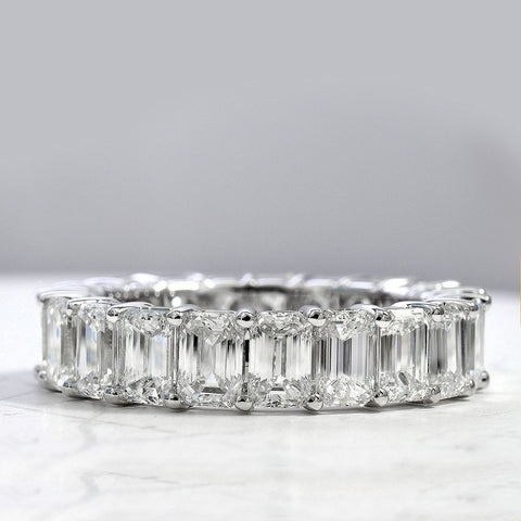 2.50 Ct. Classic Shared Prong Emerald Cut Diamond Eternity Ring F-G Color VS1 Clarity