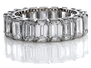 5.00 Ct. Emerald Cut Diamond Eternity Ring (Shared Prong)