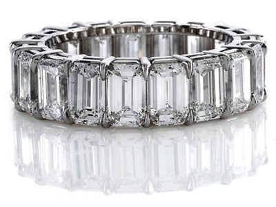 6.00 Ct. Emerald Cut Diamond Eternity Ring (Shared Prong)