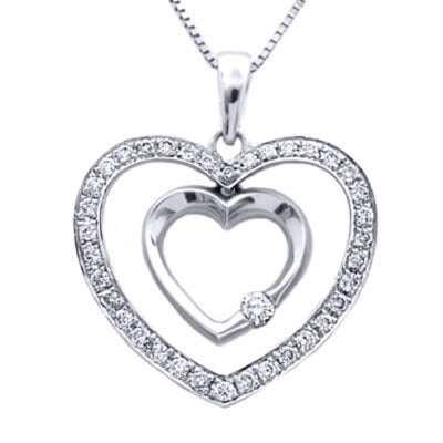 Sweet Heart Diamond Pendant With Chain
