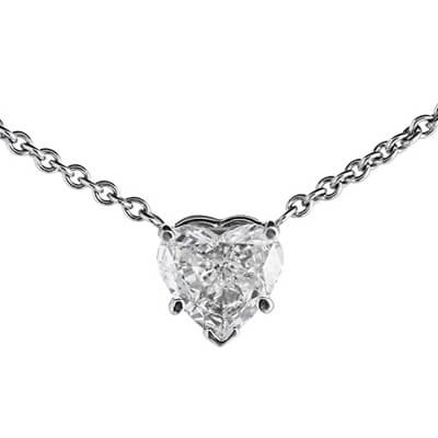 0.50 Ct. Valentine Heart Pendant Necklace With Chain