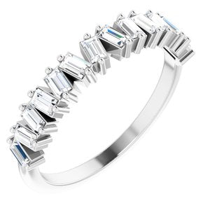 Baguette Cut Diamond Ring Anniversary Band