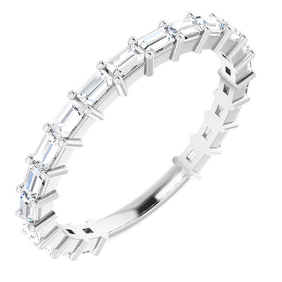 East to West Baguette Cut Diamond Ring Anniversary Band