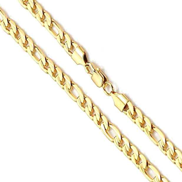 14K Yellow Gold Figaro Chain 7mm
