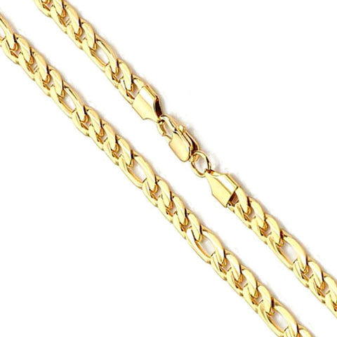 14K Yellow Gold Figaro Chain 8mm