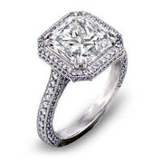 2.97 Ct. Princess Cut Diamond Engagement Ring(GIA Certified)