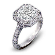 2.45 Ct. Princess Cut Diamond Engagement Ring(GIA Certified)