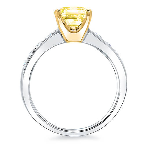 2.11 Ct. Canary Fancy Yellow Cushion Cut Solitaire GIA, SI2