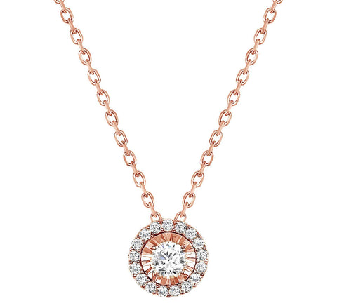 LEDODI Astro Halo Diamond Pendant Necklace