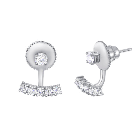 0.70 Ct. Floating Jacket Diamond Earrings with Studs