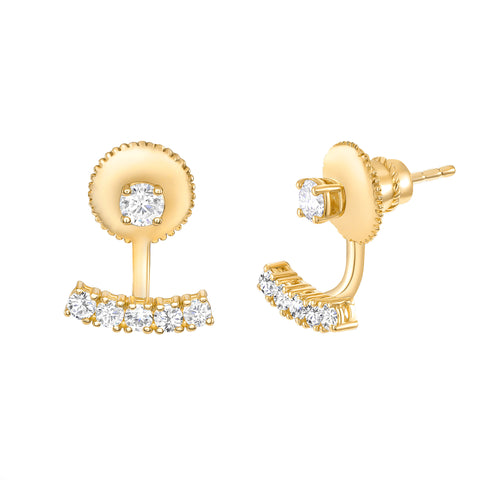 LEDODI Ball & Bar Diamond Earrings