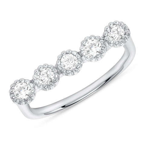 Bezel Champagne Diamond Bar Ring