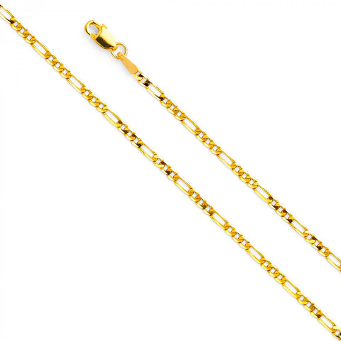 14K Yellow Gold Figaro Chain 2.5mm