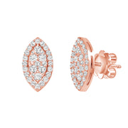 0.80 Ct. Marquise Pave Diamond Earrings