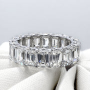 10.5 Ct. U- Setting Emerald Cut Diamond Eternity Ring F-G Color VS1 Clarity