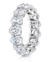 Oval Cut Diamond Eternity Ring Platinum