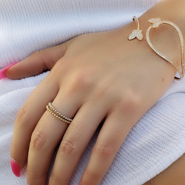 Sun-Kissed Ball Ring
