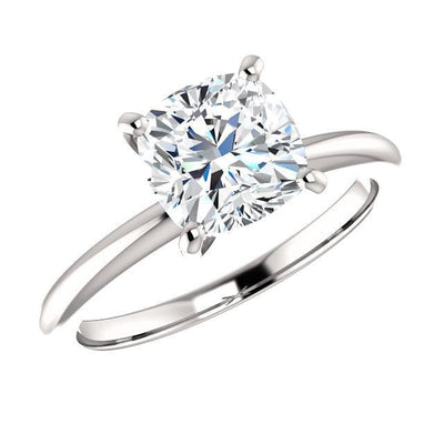 1.50 Ct. Cushion Cut Diamond Classic Solitaire Ring H Color VS2 GIA Certified