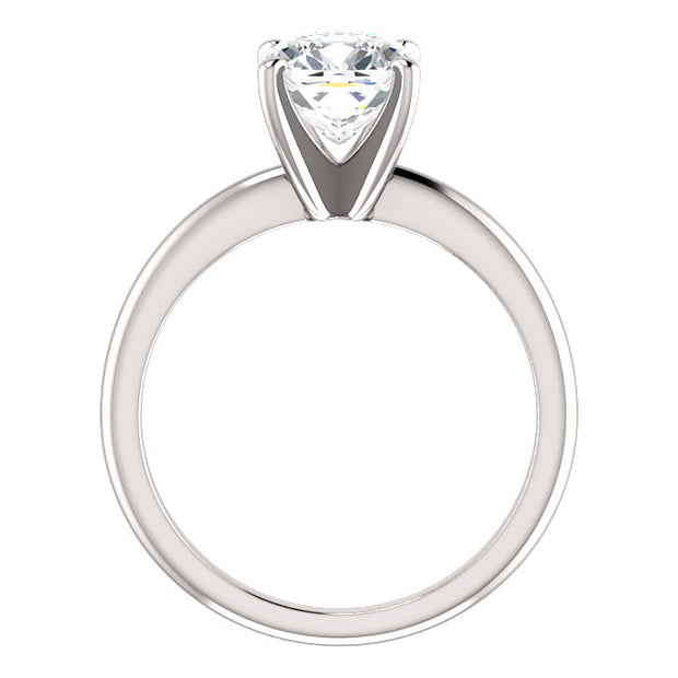 1.00 Ct. Cushion Cut Diamond Classic Solitaire Ring F Color VS2 GIA Certified