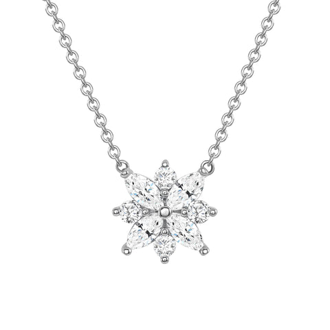 1.00 Carat Marquise Cut Diamond Necklace