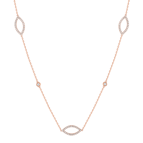 Marquise Diamond Train Necklace