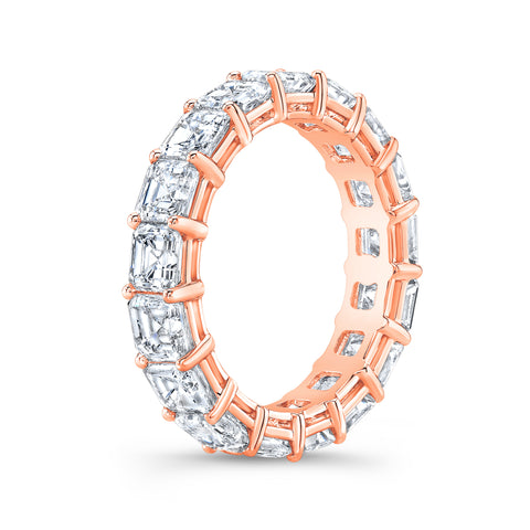 3.0 Ct. Asscher Cut Diamond Eternity Ring F-G Color VS1 Clarity