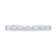 1/2 Ct. Marquise Cut and Round Cut Diamond Ring G Color VS2 Clarity