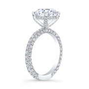 4.00 Ct. Hidden Halo Round Cut Diamond Engagement Ring G Color VS2 GIA Certified 3X