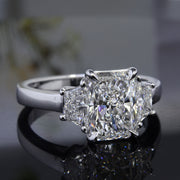 3.00 Ct. Radiant Cut 3 Stone Diamond Engagement Ring G Color VS2 GIA Certified