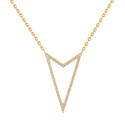 yellow gold rock star diamond pendant necklace