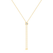 Solid Gold and Diamond Adjustable Rodeo Necklace