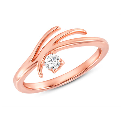 Rose Gold Rose Tier Ring on Woman