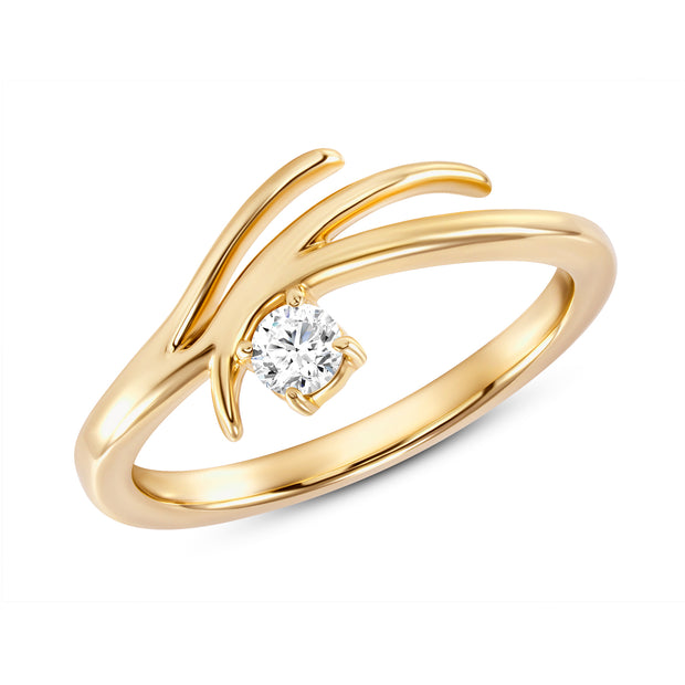 Yellow Gold Rose Tier Ring