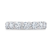 3.0 Ct. Round Brilliant Diamond Eternity Band Wedding Ring G Color SI1 Clarity