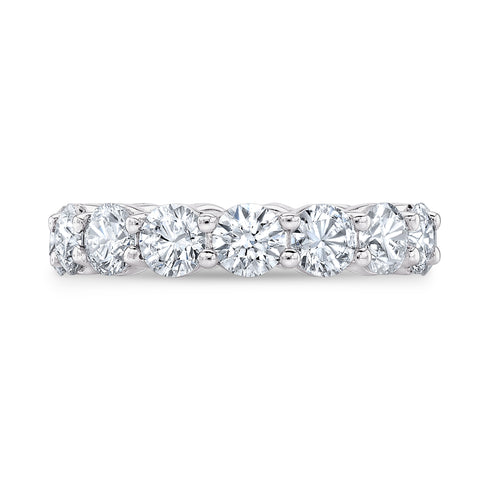 3.0 Ct. Shared Prong Round Cut Diamond Eternity Band Wedding Band F-G Color VS2 Clarity