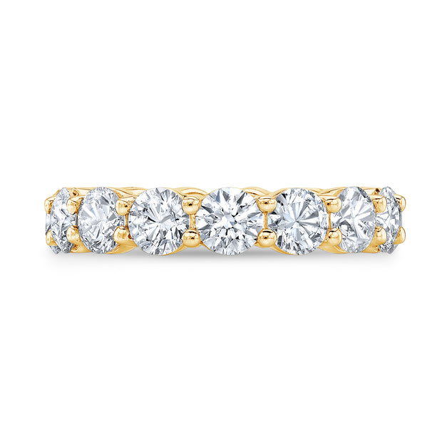 7.0 Ct. Round Diamond Eternity Ring G Color SI1 Clarity Excellent Cut