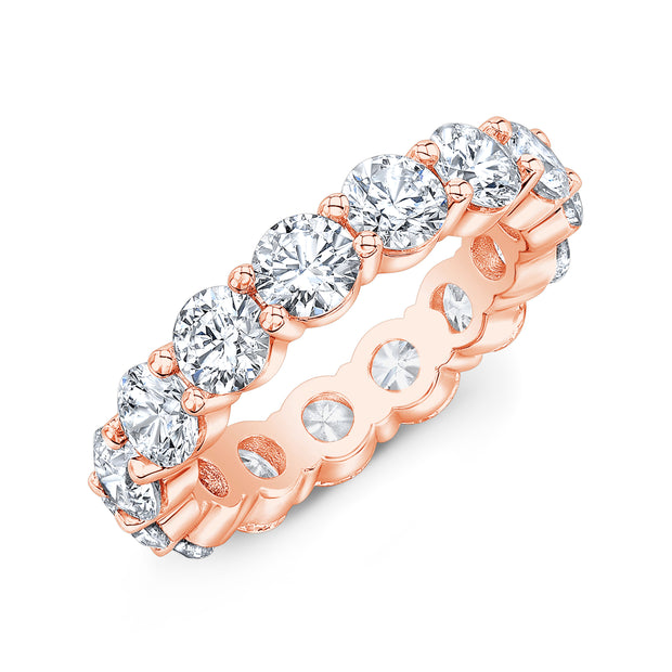 7.0 Ct. Round Diamond Eternity Band Wedding Ring rose gold