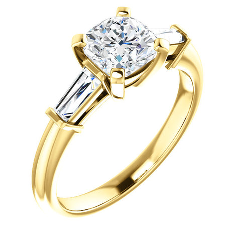 2.00 Ct. Cushion Cut 3 Stone Diamond  Ring H Color VS2 Clarity GIA Certified