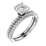 1.60 Ct. Galaxy Cushion Cut Diamond Engagement Ring F Color SI1 GIA Certified